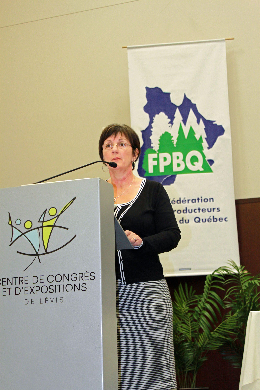 Mot de Luce Bisson, UPA de Lévis-Bellechasse
