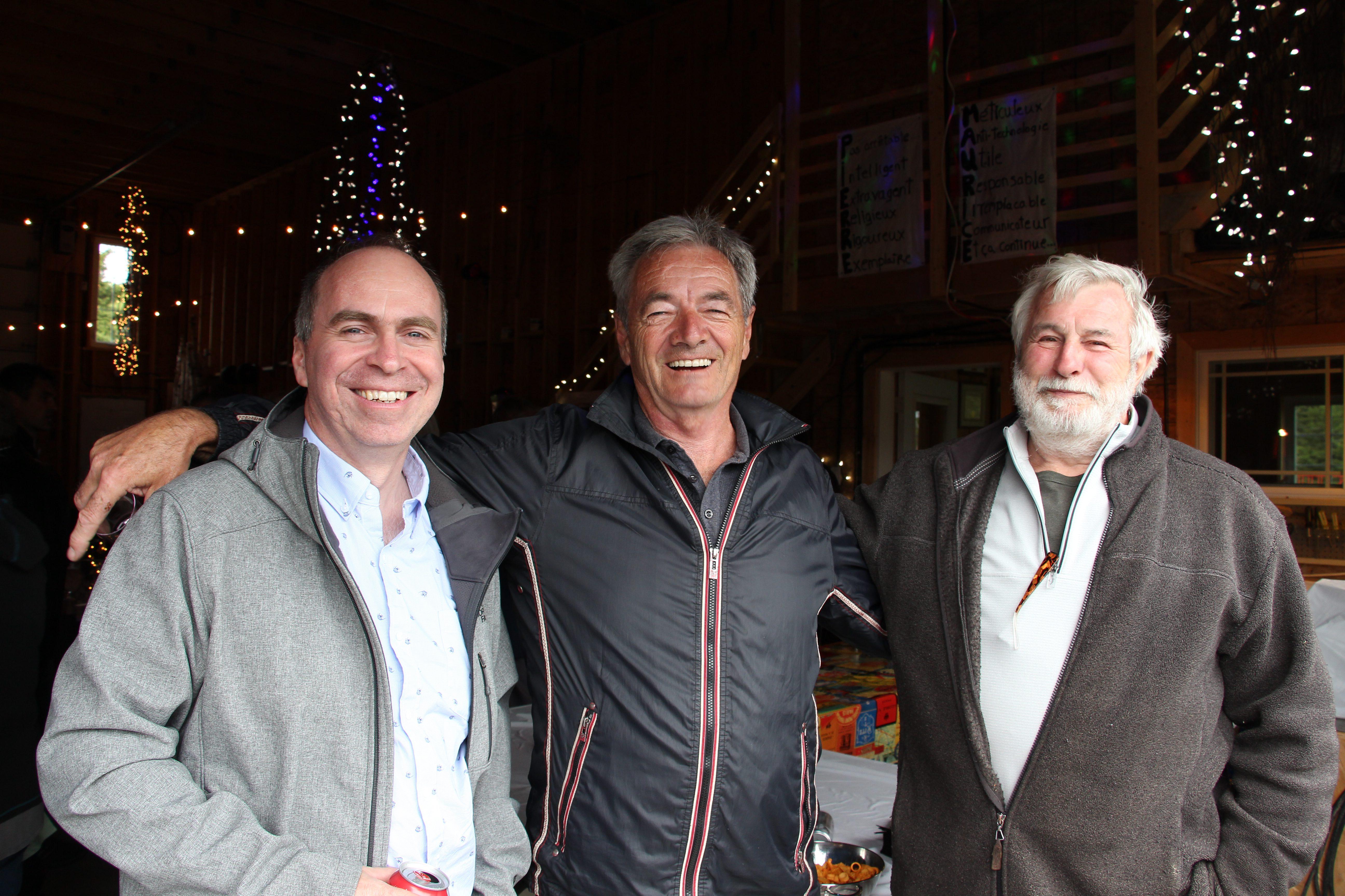 Ghislain L., Marcel B. et Léo-Paul Q.