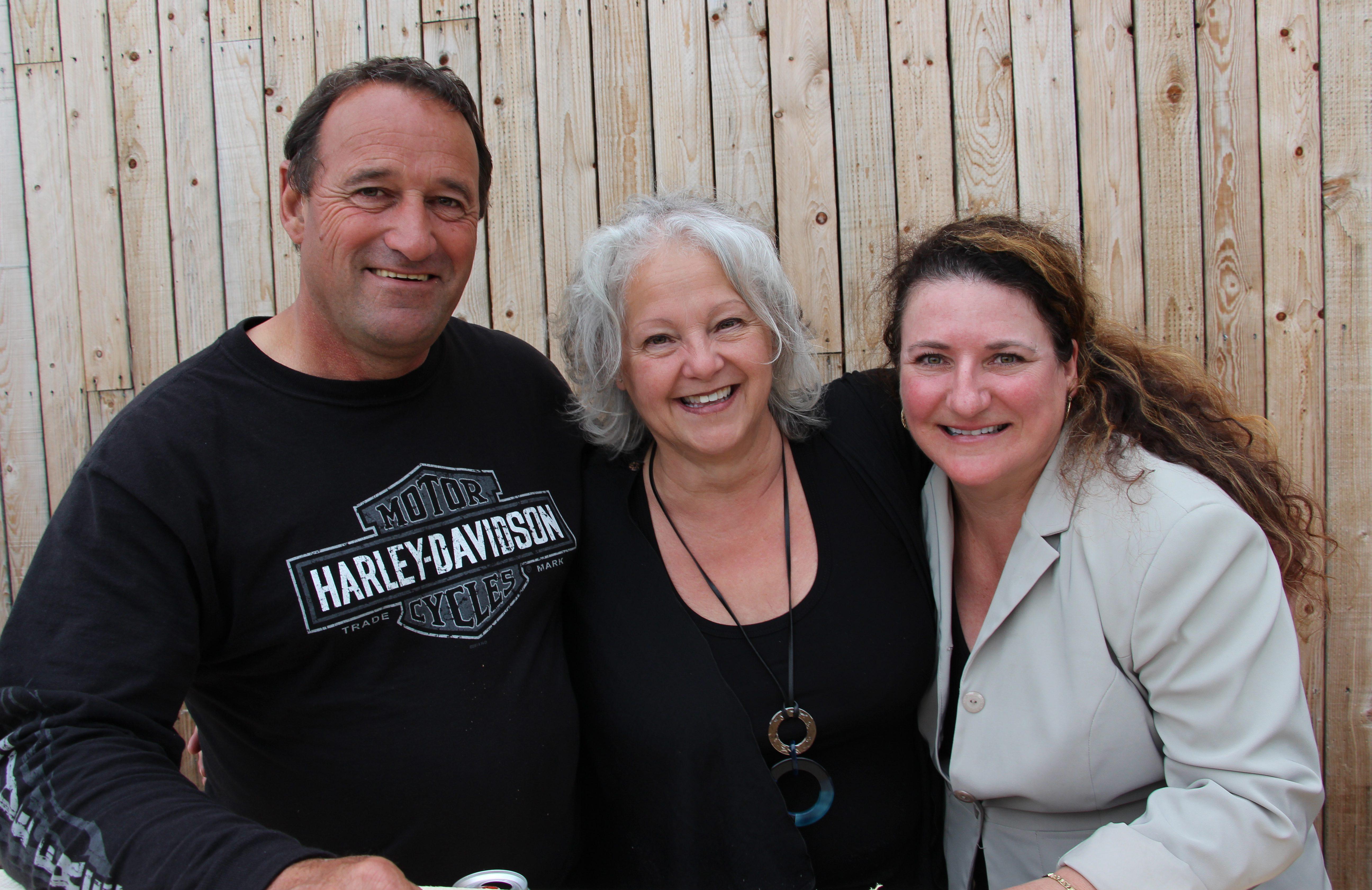 Gaétan B., Lyne T. et Brigitte B.