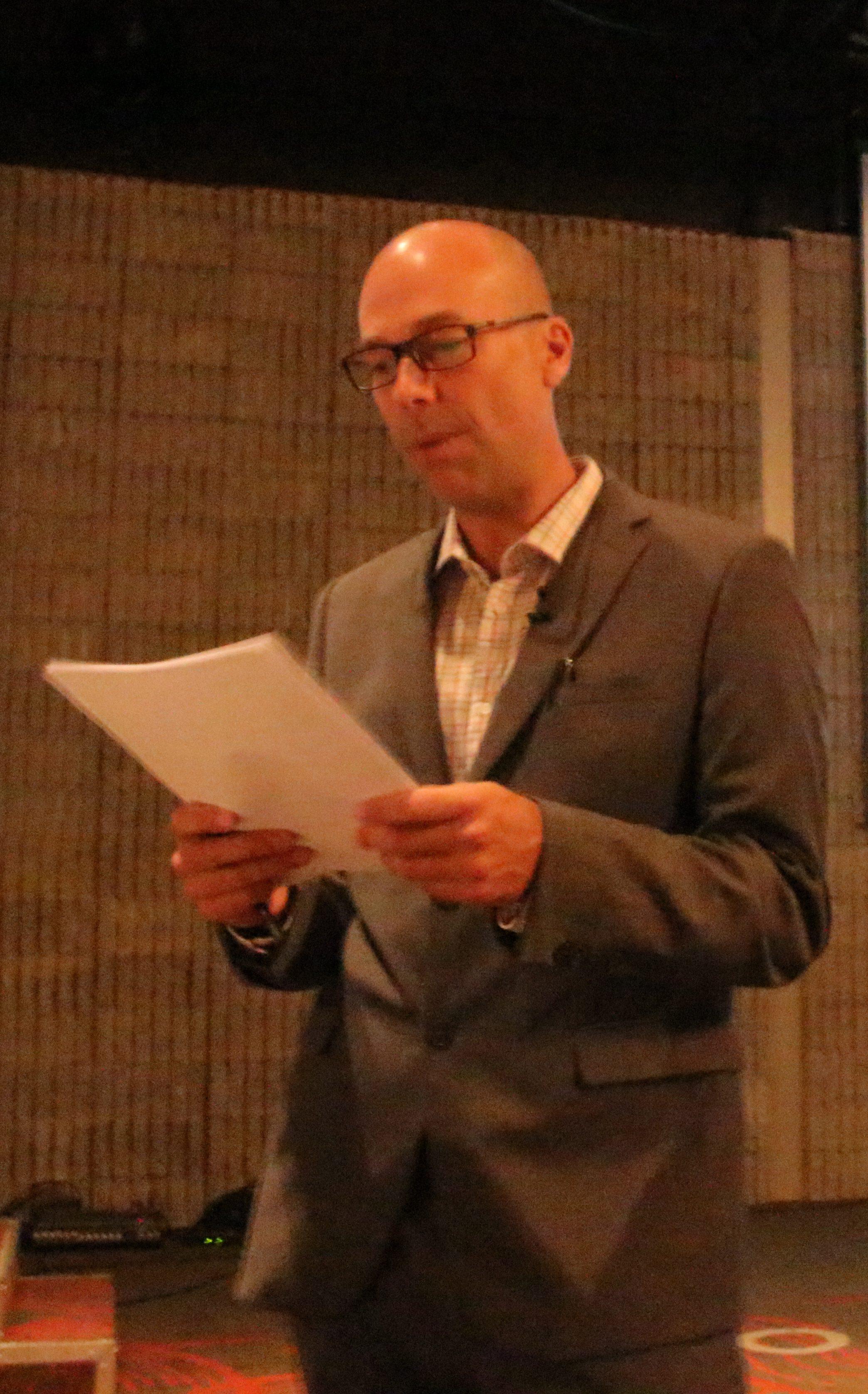 Marc-André Rhéaume à l'animation de la journée des conférences