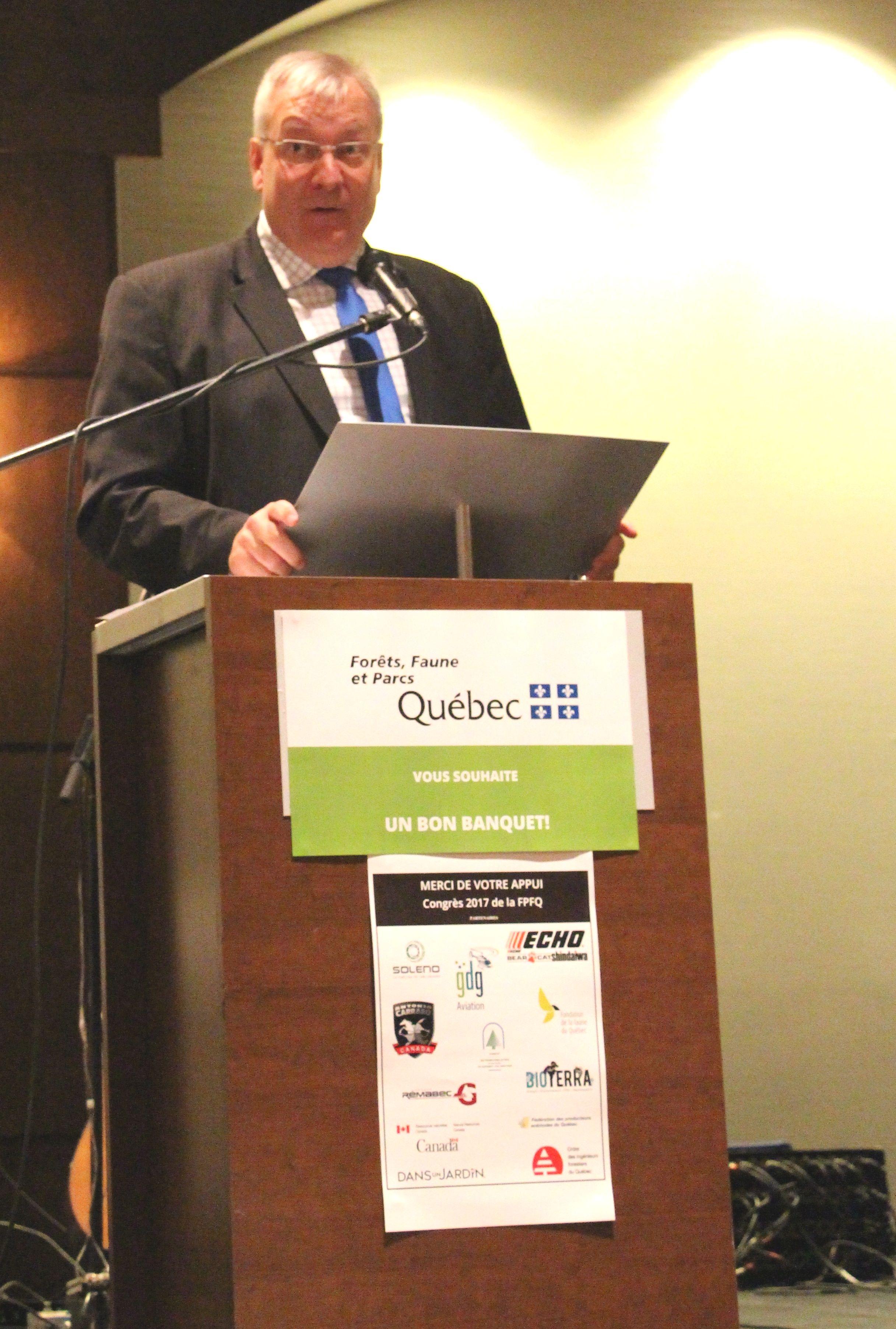 Allocution du ministre des Forêts, de la Faune et des Parcs, Luc Blanchette
