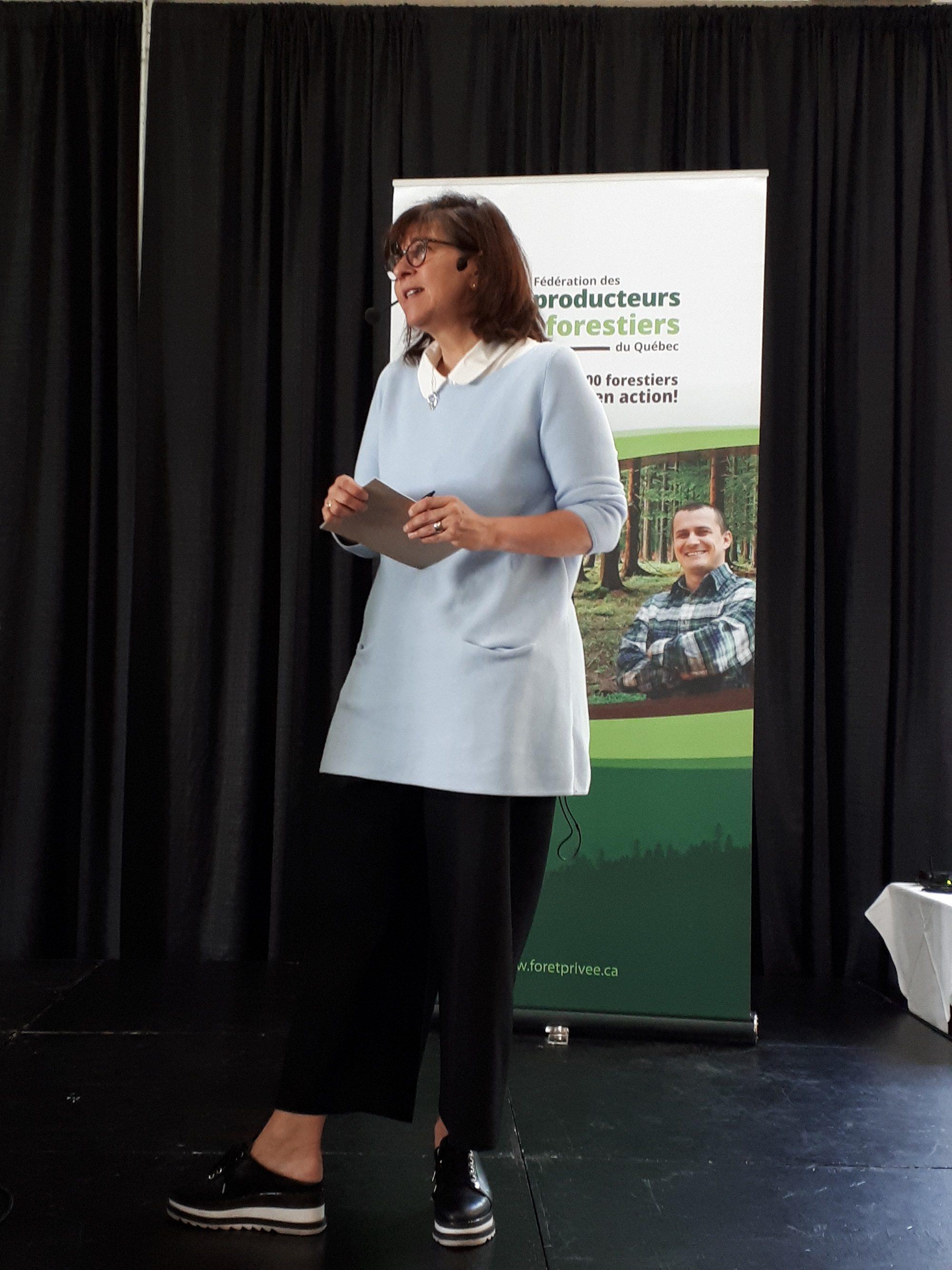 Marie Gregoire, ex-élue et commentatrice politique.