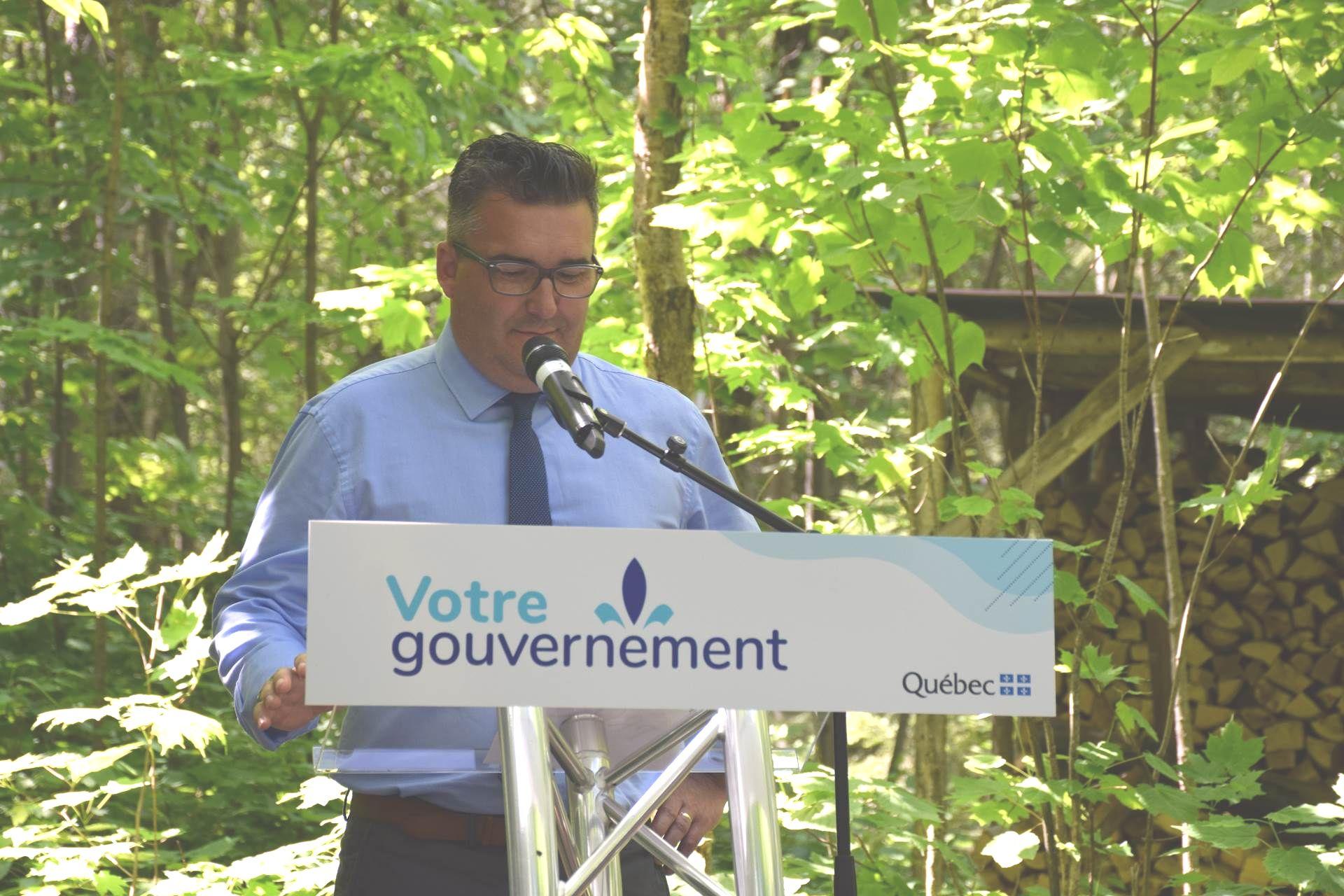 Le député de Dubuc, François Tremblay, a pris la parole. :
